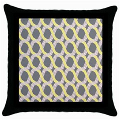 Hearts And Yellow Washi Zigzags Tileable Throw Pillow Case (black) by Jojostore