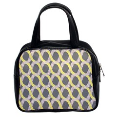 Hearts And Yellow Washi Zigzags Tileable Classic Handbags (2 Sides) by Jojostore