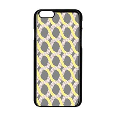 Hearts And Yellow Washi Zigzags Tileable Apple Iphone 6/6s Black Enamel Case by Jojostore