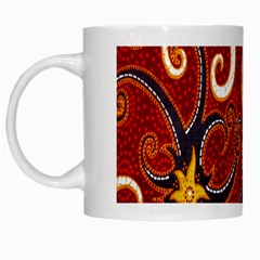 Batik Jogja Java White Mugs by Jojostore