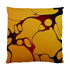 Black Yellow Orange Standard Cushion Case (two Sides) by Jojostore