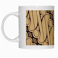 Batik Parang Rusak Seamless White Mugs by Jojostore