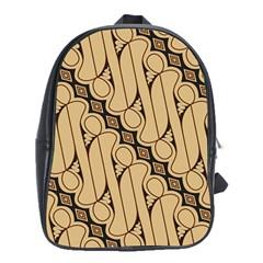 Batik Parang Rusak Seamless School Bags (xl)  by Jojostore