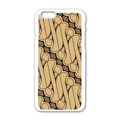 Batik Parang Rusak Seamless Apple Iphone 6/6s White Enamel Case by Jojostore