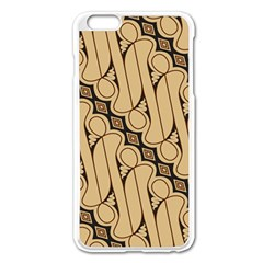 Batik Parang Rusak Seamless Apple Iphone 6 Plus/6s Plus Enamel White Case by Jojostore