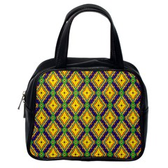 Morocco Flower Yellow Classic Handbags (one Side) by Jojostore