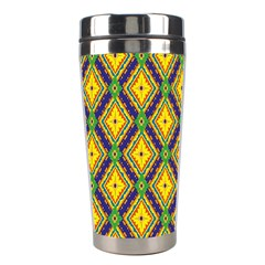 Morocco Flower Yellow Stainless Steel Travel Tumblers