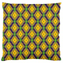 Morocco Flower Yellow Standard Flano Cushion Case (two Sides) by Jojostore