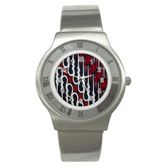 Batik Jogja Red Black Stainless Steel Watch by Jojostore