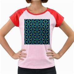 Flower Green Women s Cap Sleeve T-Shirt by Jojostore