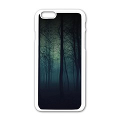 Dark Forest Apple Iphone 6/6s White Enamel Case by Brittlevirginclothing