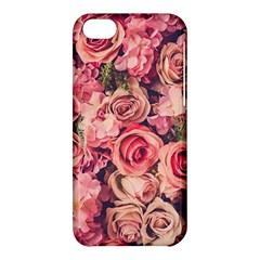 Gorgeous Pink Roses Apple Iphone 5c Hardshell Case