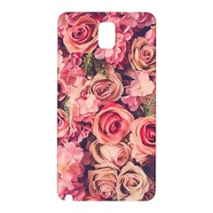 Gorgeous Pink Roses Samsung Galaxy Note 3 N9005 Hardshell Back Case by Brittlevirginclothing