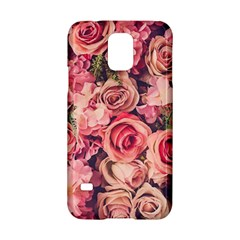 Gorgeous Pink Roses Samsung Galaxy S5 Hardshell Case  by Brittlevirginclothing