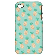 Cute Pineapple Apple Iphone 4/4s Hardshell Case (pc+silicone) by Brittlevirginclothing