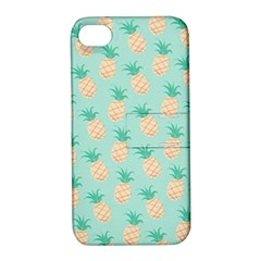 Cute Pineapple Apple Iphone 4/4s Hardshell Case With Stand by Brittlevirginclothing