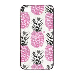 Cute Pink Pineapple Apple Iphone 4/4s Seamless Case (black) by Brittlevirginclothing