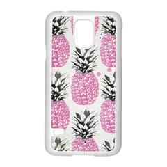 Cute Pink Pineapple Samsung Galaxy S5 Case (white) by Brittlevirginclothing
