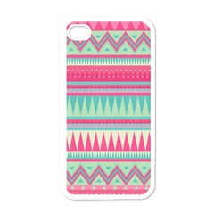Lovely Pink Bohemian Apple Iphone 4 Case (white) by Brittlevirginclothing