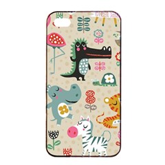 Cute Small Cartoon Characters Apple Iphone 4/4s Seamless Case (black) by Brittlevirginclothing
