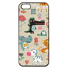 Cute Small Cartoon Characters Apple Iphone 5 Seamless Case (black) by Brittlevirginclothing