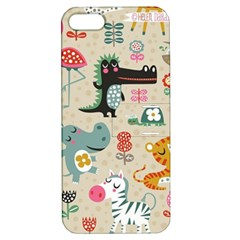 Cute Small Cartoon Characters Apple Iphone 5 Hardshell Case With Stand by Brittlevirginclothing