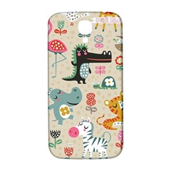 Cute Small Cartoon Characters Samsung Galaxy S4 I9500/i9505  Hardshell Back Case by Brittlevirginclothing