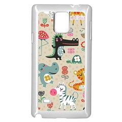 Cute Small Cartoon Characters Samsung Galaxy Note 4 Case (white) by Brittlevirginclothing