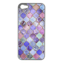 Gorgeous Blue Moroccan Mosaic Apple Iphone 5 Case (silver) by Brittlevirginclothing