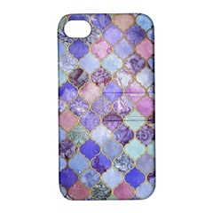 Gorgeous Blue Moroccan Mosaic Apple Iphone 4/4s Hardshell Case With Stand by Brittlevirginclothing