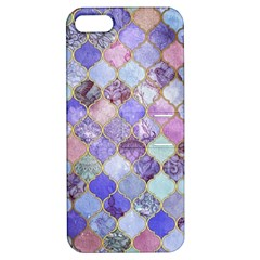 Gorgeous Blue Moroccan Mosaic Apple Iphone 5 Hardshell Case With Stand by Brittlevirginclothing