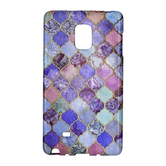 Gorgeous Blue Moroccan Mosaic Galaxy Note Edge by Brittlevirginclothing