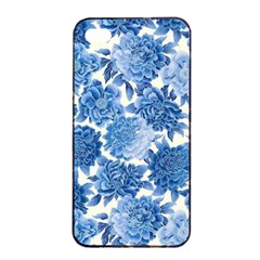 Blue Flowers Apple Iphone 4/4s Seamless Case (black) by Brittlevirginclothing