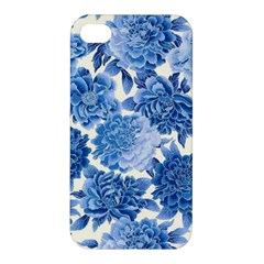 Blue Flowers Apple Iphone 4/4s Premium Hardshell Case by Brittlevirginclothing
