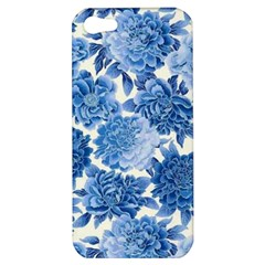 Blue Flowers Apple Iphone 5 Hardshell Case by Brittlevirginclothing