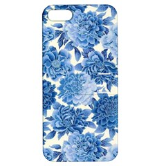Blue Flowers Apple Iphone 5 Hardshell Case With Stand