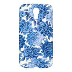 Blue Flowers Samsung Galaxy S4 I9500/i9505 Hardshell Case by Brittlevirginclothing