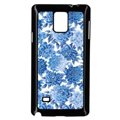 Blue Flowers Samsung Galaxy Note 4 Case (black) by Brittlevirginclothing