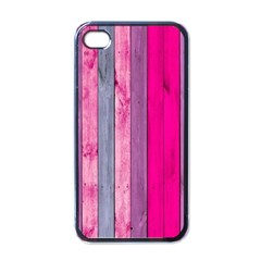 Pink Wood  Apple Iphone 4 Case (black) by Brittlevirginclothing