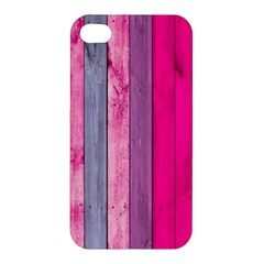 Pink Wood  Apple Iphone 4/4s Premium Hardshell Case by Brittlevirginclothing