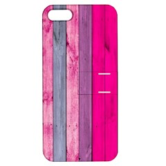 Pink Wood  Apple Iphone 5 Hardshell Case With Stand by Brittlevirginclothing