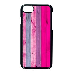 Pink Wood  Apple Iphone 7 Seamless Case (black) by Brittlevirginclothing