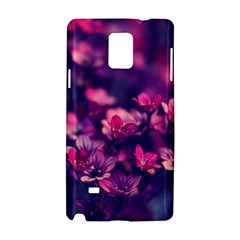 Blurry Lila Flowers Samsung Galaxy Note 4 Hardshell Case by Brittlevirginclothing