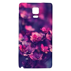 Blurry Lila Flowers Galaxy Note 4 Back Case by Brittlevirginclothing