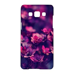 Blurry Lila Flowers Samsung Galaxy A5 Hardshell Case  by Brittlevirginclothing