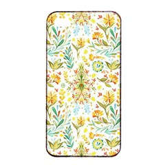 Vintage Pastel Flowers Apple Iphone 4/4s Seamless Case (black) by Brittlevirginclothing