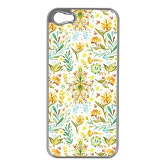 Vintage Pastel Flowers Apple Iphone 5 Case (silver) by Brittlevirginclothing
