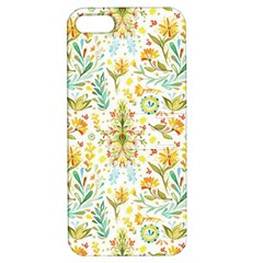 Vintage Pastel Flowers Apple Iphone 5 Hardshell Case With Stand by Brittlevirginclothing