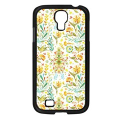 Vintage Pastel Flowers Samsung Galaxy S4 I9500/ I9505 Case (black) by Brittlevirginclothing