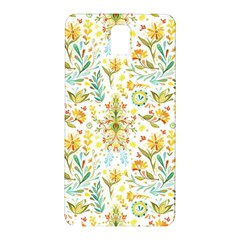 Vintage Pastel Flowers Samsung Galaxy Note 3 N9005 Hardshell Back Case